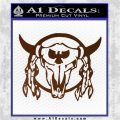 Bison Skull Native American Indian Ritual Decal Sticker Brown Vinyl 120x120