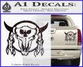 Bison Skull Native American Indian Ritual Decal Sticker Carbon Fiber Black 120x97