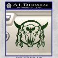 Bison Skull Native American Indian Ritual Decal Sticker Dark Green Vinyl 120x120