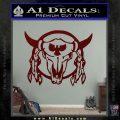Bison Skull Native American Indian Ritual Decal Sticker Dark Red Vinyl 120x120
