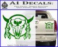 Bison Skull Native American Indian Ritual Decal Sticker Green Vinyl 120x97