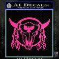 Bison Skull Native American Indian Ritual Decal Sticker Hot Pink Vinyl 120x120