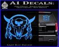 Bison Skull Native American Indian Ritual Decal Sticker Light Blue Vinyl 120x97