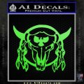 Bison Skull Native American Indian Ritual Decal Sticker Lime Green Vinyl 120x120