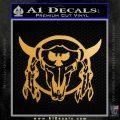 Bison Skull Native American Indian Ritual Decal Sticker Metallic Gold Vinyl 120x120