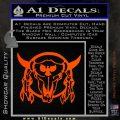 Bison Skull Native American Indian Ritual Decal Sticker Orange Vinyl Emblem 120x120