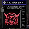 Bison Skull Native American Indian Ritual Decal Sticker Pink Vinyl Emblem 120x120