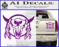 Bison Skull Native American Indian Ritual Decal Sticker Purple Vinyl 120x97