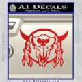Bison Skull Native American Indian Ritual Decal Sticker Red Vinyl 120x120