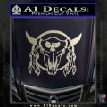 Bison Skull Native American Indian Ritual Decal Sticker Silver Vinyl 120x120