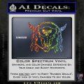 Bison Skull Native American Indian Ritual Decal Sticker Sparkle Glitter Vinyl 120x120