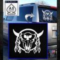 Bison Skull Native American Indian Ritual Decal Sticker White Emblem 120x120