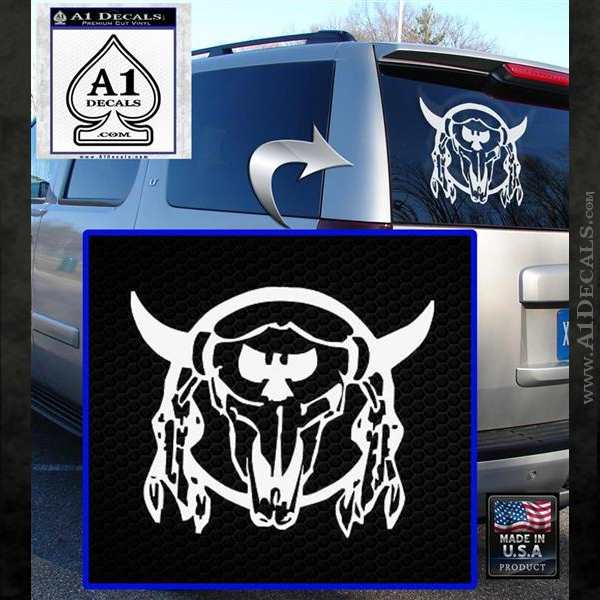 Bison Skull Native American Indian Ritual Decal Sticker