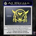 Bison Skull Native American Indian Ritual Decal Sticker Yelllow Vinyl 120x120