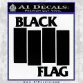 Black Flag Band Decal Sticker RT Black Logo Emblem 120x120
