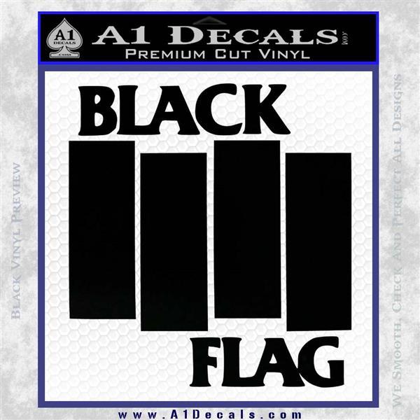 Black flag band decal sticker rt black logo emblem