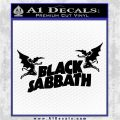 Black Sabbath Decal Sticker DA Black Logo Emblem 120x120