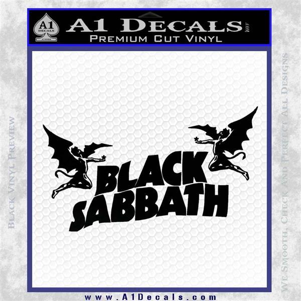 Black Sabbath Decal Sticker DA Black Logo Emblem