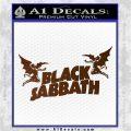 Black Sabbath Decal Sticker DA Brown Vinyl 120x120