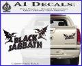 Black Sabbath Decal Sticker DA Carbon Fiber Black 120x97