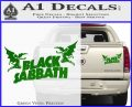 Black Sabbath Decal Sticker DA Green Vinyl 120x97