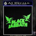 Black Sabbath Decal Sticker DA Lime Green Vinyl 120x120