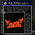Black Sabbath Decal Sticker DA Orange Vinyl Emblem 120x120