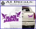 Black Sabbath Decal Sticker DA Purple Vinyl 120x97