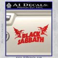 Black Sabbath Decal Sticker DA Red Vinyl 120x120