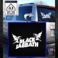 Black Sabbath Decal Sticker DA White Emblem 120x120