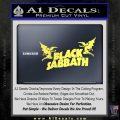 Black Sabbath Decal Sticker DA Yelllow Vinyl 120x120