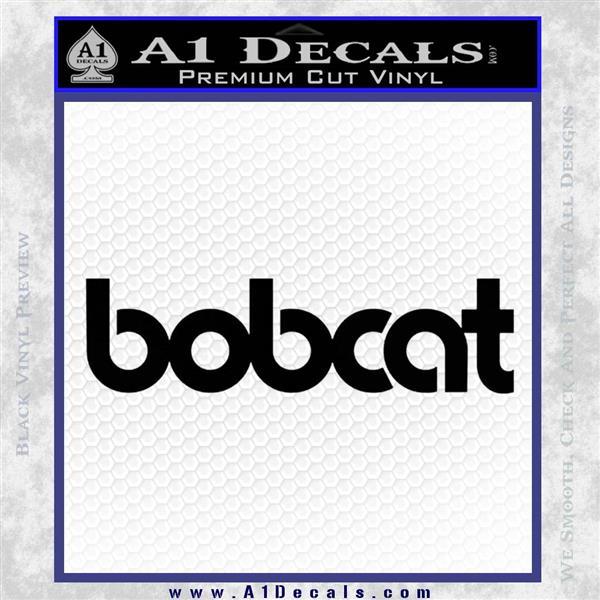 Bobcat Decal Sticker VZL Black Logo Emblem
