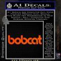 Bobcat Decal Sticker VZL Orange Vinyl Emblem 120x120
