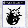 Bomb Smiley JDM Decal Sticker Black Logo Emblem 120x120