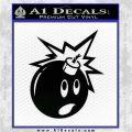 Bomb Smiley JDM Decal Sticker Black Logo Emblem 120x120