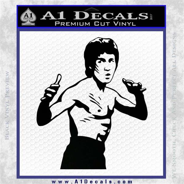 Bruce Lee Decal Sticker Fight Black Logo Emblem