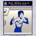 Bruce Lee Decal Sticker Fight Blue Vinyl 120x120
