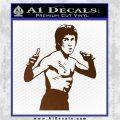 Bruce Lee Decal Sticker Fight Brown Vinyl 120x120