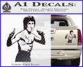 Bruce Lee Decal Sticker Fight Carbon Fiber Black 120x97