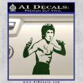 Bruce Lee Decal Sticker Fight Dark Green Vinyl 120x120