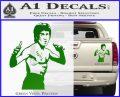 Bruce Lee Decal Sticker Fight Green Vinyl 120x97