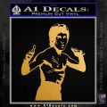 Bruce Lee Decal Sticker Fight Metallic Gold Vinyl 120x120