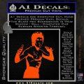 Bruce Lee Decal Sticker Fight Orange Vinyl Emblem 120x120