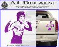 Bruce Lee Decal Sticker Fight Purple Vinyl 120x97