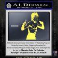 Bruce Lee Decal Sticker Fight Yelllow Vinyl 120x120