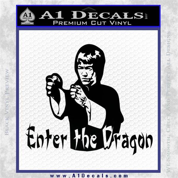 Bruce Lee Enter The Dragon Decal Sticker Black Logo Emblem
