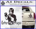 Bruce Lee Enter The Dragon Decal Sticker Carbon Fiber Black 120x97