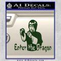 Bruce Lee Enter The Dragon Decal Sticker Dark Green Vinyl 120x120