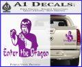 Bruce Lee Enter The Dragon Decal Sticker Purple Vinyl 120x97