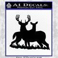 Buck and Doe Deer Hunting Decal Sticker Black Logo Emblem 120x120